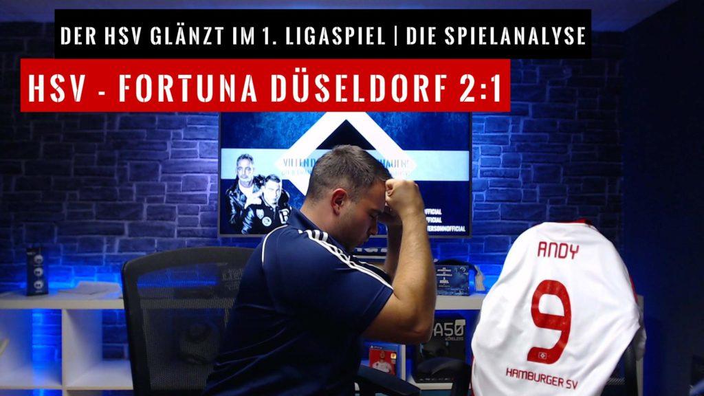 HSV - Fortuna Düsseldorf 2:1 Spielanalyse 2020