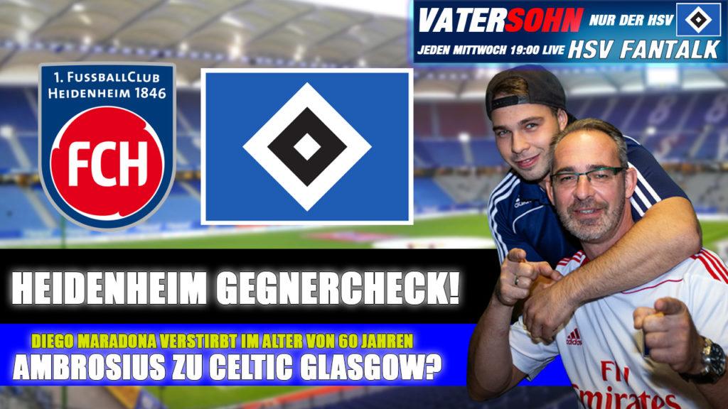 HSV Fantalk - Heidenheim Gegnercheck- Diego Maradona tot